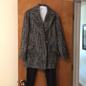 Express Black and White Coat